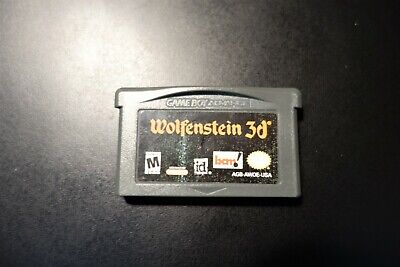Wolfenstein 3D Nintendo Gameboy ADVANCE GBA Tested AUTHENTIC