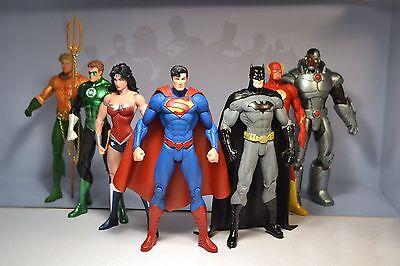 Justice League Action Figures 7Pk Set Dc Universe Superman Batman Flash Aquaman