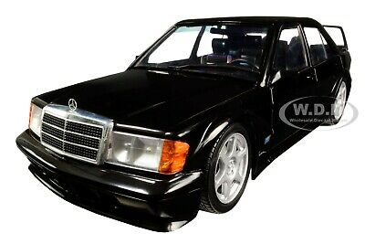 MERCEDES BENZ 190E EVOLUTION II BLACK 1/18 DIECAST MODEL CAR BY SOLIDO S1801001