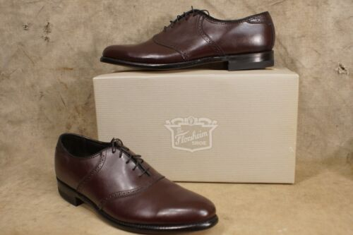 Vintage NOS Florsheim Shoes Varsity Saddle BAL Wine Men