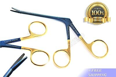 Titanium Hartman Alligator Forceps 3.5 Serrated Gold Rings Ent German Stainless