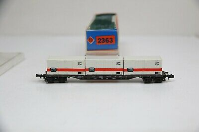 Roco Spur N 2363 Containertragwagen Sssy 716 3x 20-Fuß-DB Contain. in OVP (RC90)