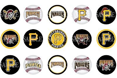 15 Pre-Cut Pittsburgh Pirates 1 Inch Bottle Cap Images