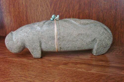 Large Salvador Romero Carved Found Stone Mountain Lion Cochiti   Zuni Fetish