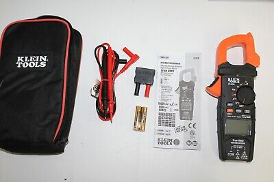 Klein Tools Cl800 600 Amp Acdc Digital Clamp Meter With Leads Bag