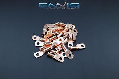 8 Gauge Copper 10 Ring 10 Pk Crimp Terminal Connector Awg Ga Car Eye Cur810