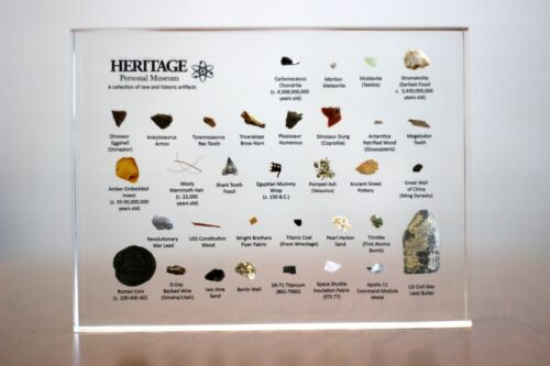 Heritage Personal Museum | (Includes: Meteorites, Fossils, etc...) Back-ordered