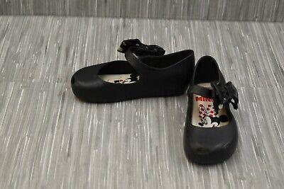 **Mini Melissa Ultragirl + Minnie II Flat - Little Girl's Size 10 - Black