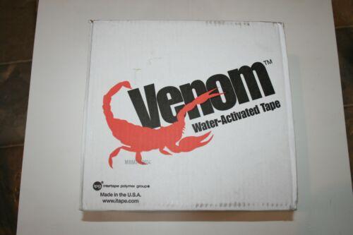 8 Rolls Venom Reinforced Gummed Tape 2.75in 70mm x 375ft Water Activated Paper