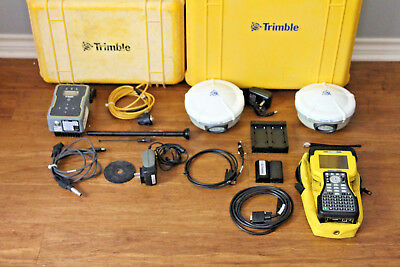 Trimble Dual R8 Model 2 Gps Gnss Glonass Base Rover Rtk System W Tdl-450h Tsc2