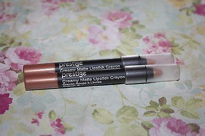 2 Prestige Cosmetics Creamy Matte Lipstick Crayon in #LP-14 Voile - FREE