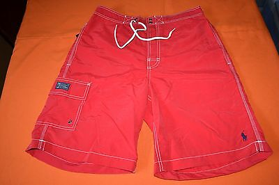 Polo Ralph Lauren Swimming Board Trunks Color: Red Men's Size: Large NWT