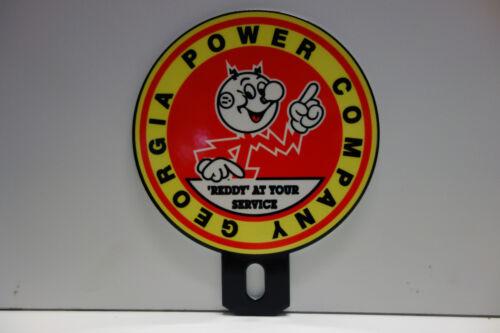 GEORGIA POWER COMPANY Reddy Kilowatt Plate Topper ELECTRICIAN GIFT