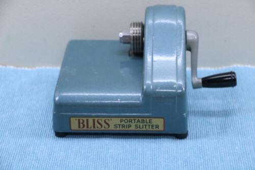 "Original Vintage "" Bliss "" Portable Strip Slitter Includes #3 & #4 Blades"