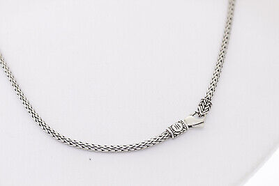 JOHN HARDY Sterling Silver 18 Inch Classic 2.4mm Flat Weave Chain Necklace