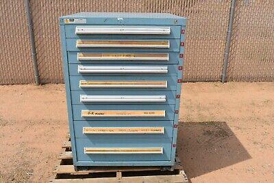 Used Stanley Vidmar Industrial Tool Parts Storage 9 Drawer
