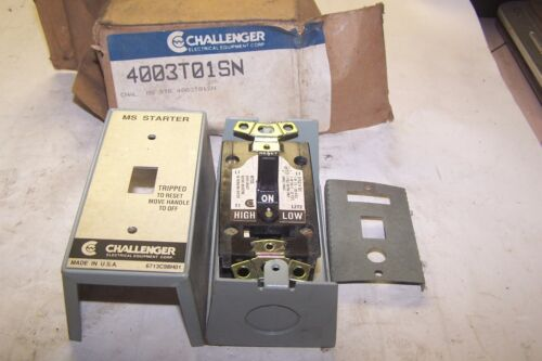 NEW CHALLENGER MANUAL MOTOR STARTER SWITCH 115/230 VAC 4003T01SN