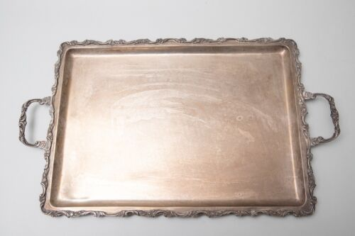 SZS Antique Mexican Sterling Silver .925 Platter Tray