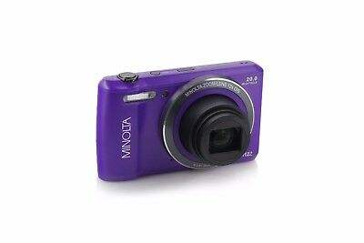 Minolta 20MP Purple Wifi Digital Camera w/12x Optical Zoom & HD Video - MN12Z-P