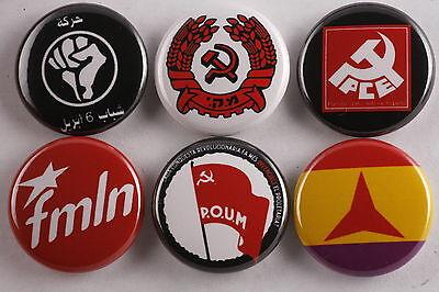 World Communist Anarchist Party Button Badge Lot Spain Israel Egypt El Salvador