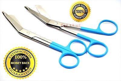 Premium 2 Pcs Lister Bandage Nurse Scissors Medical Surgical Instruments-blue