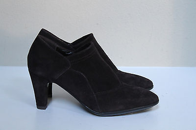 New sz 7 Aquatalia by Marvin K Rosetta Brown Suede Weatherproof Bootie Pump Shoe Aquatalia By Marvin K Pumps