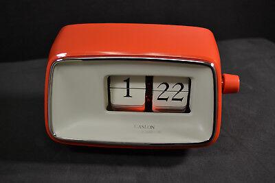 Vintage Caslon 201 Red Case Mod Modern Eames Flip Clock  for sale  East Windsor Hill