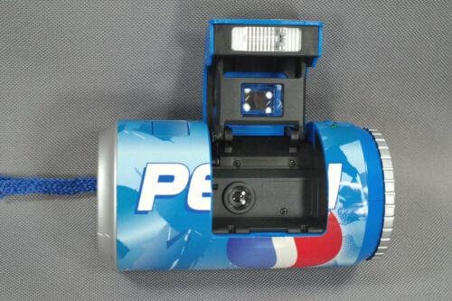 Pepsi Cola Point & Shoot 35mm RARE Can-Shaped Camera; LOMO Style; Tested, Works!