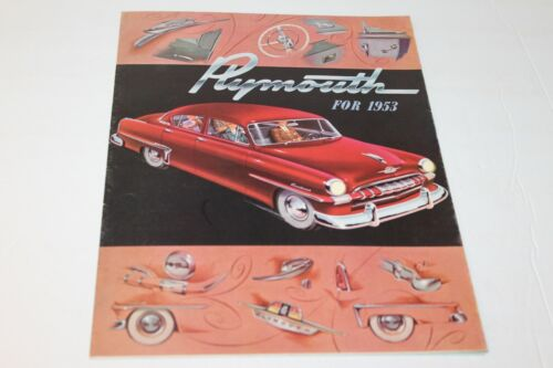 1953 PLYMOUTH FOLDOUT  DEALER SALES BROCHURE