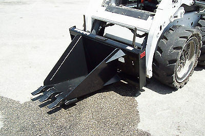 Skid Steer Heavy Duty Stump Bucket 36 Depth17 Wide Front Made Usa In Stock