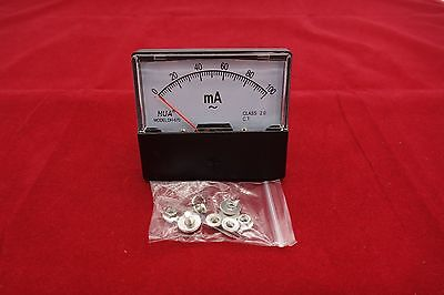 1pc Ac 0-100ma Analog Ammeter Panel Amp Current Meter 6070mm Directly Connect