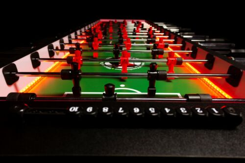 Warrior 8 Man Foosball Table. Complete with LED lights