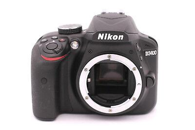 Nikon D D3400 24.2MP Digital SLR Camera - Black (Body Only)