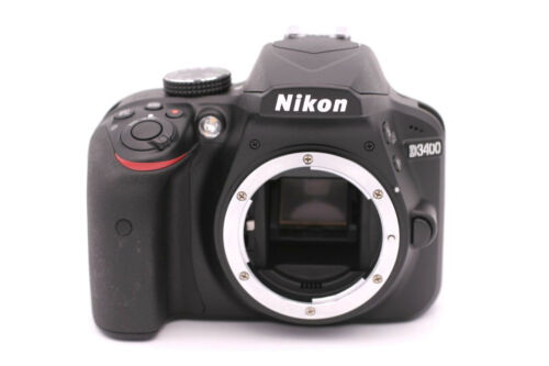 Nikon D3400 24.2MP Digital SLR Camera - (Body Only) Black