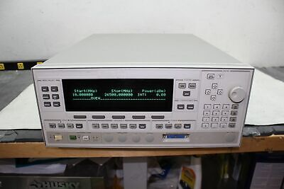 Agilent Hp 83620b 10 Mhz - 26.5 Ghz Synthesized Sweeper Opt 26 Freq Extension
