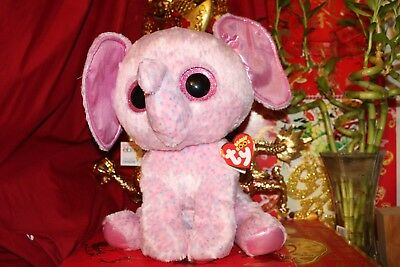 "TY BEANIE BOOS ELLIE THE ELEPHANT.17"".JUMBO.2015 OR 2016.MWNMT.NICE GIFT"