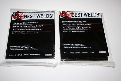Lot Of 2-best Welds Glass Welders Filter Lens 4-12 X 5-14 Shade 10