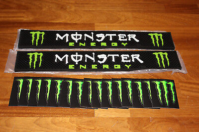 Monster Energy Original 2 Stück Barmatte 15 Sticker Kralle NEU