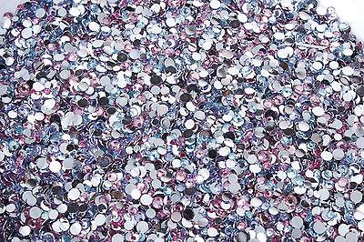 10g Pinky Blues mixed rhinestones