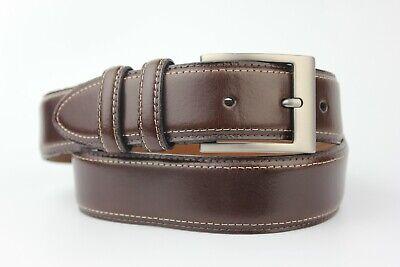 "Joseph Abboud Dark Brown Leather Belt Size 32"" 80cm"