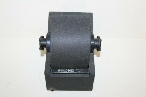 Vtg Classic Rolodex Model 1753 Black Metal Cabinet Includes Some Unused Cards