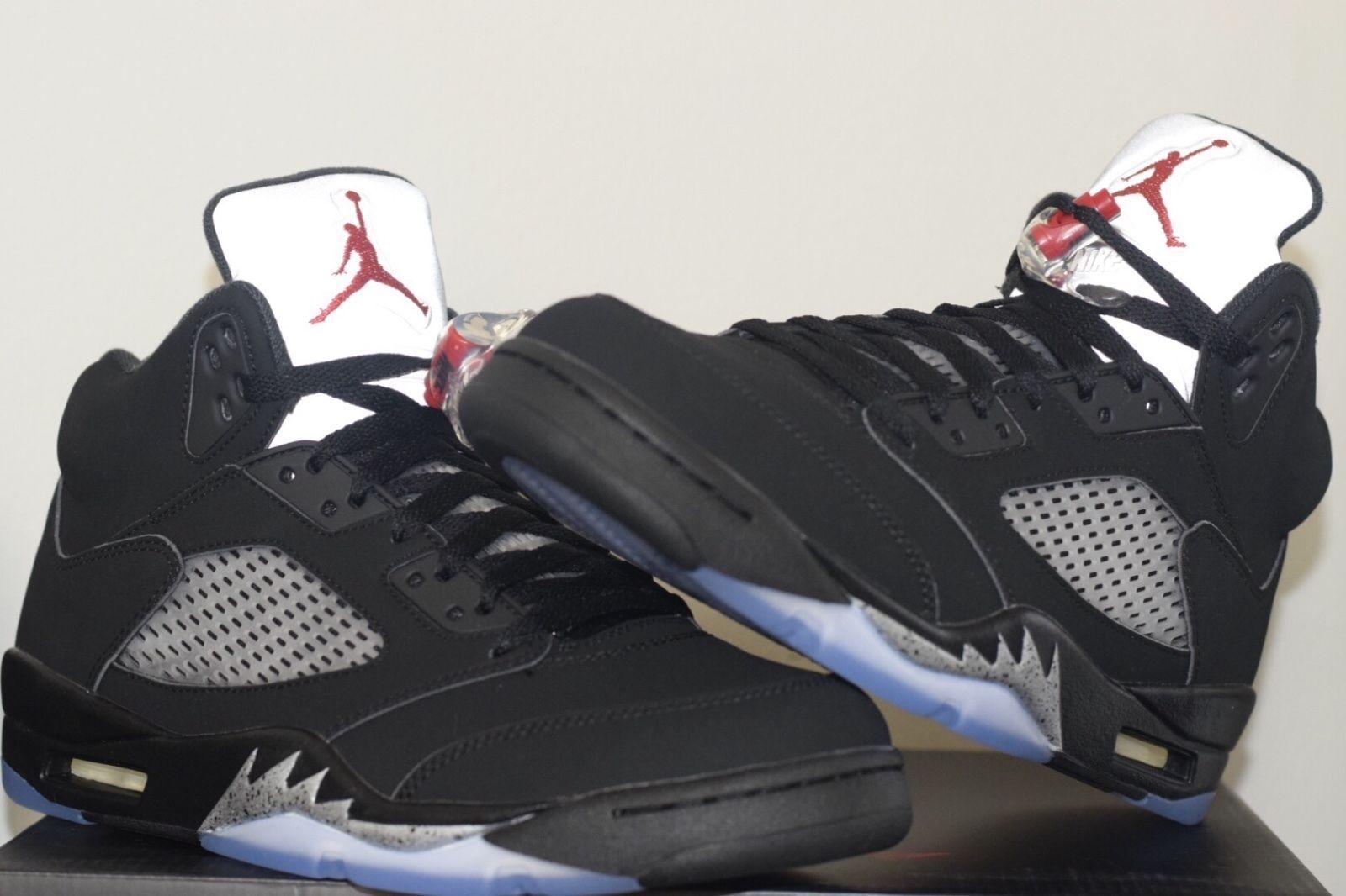 5ddaf3c3cc8 2016 Nike Air Jordan 5 V Retro OG Black Metallic Silver Size 11 ...