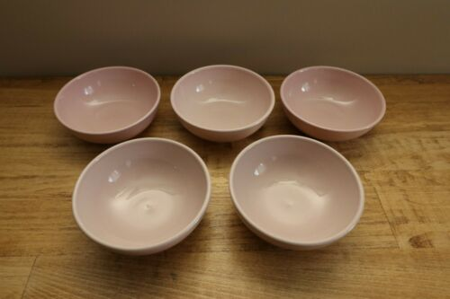 Iroquois China - Casual Pink Russel Wright - 5 Bowls - 5 1/4