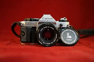 Canon AE-1 Program 35mm SLR Camera with 50mm f1.8  WORKING