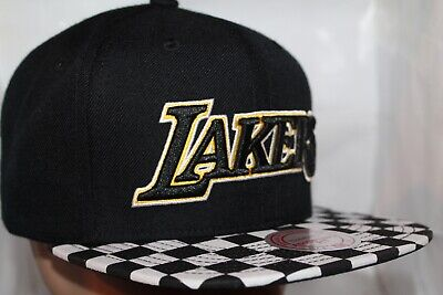 pretty nice ba3a4 d8b8a Los Angeles Lakers Mitchell   Ness NBA Checked Out Snapback,Hat,Cap NEW
