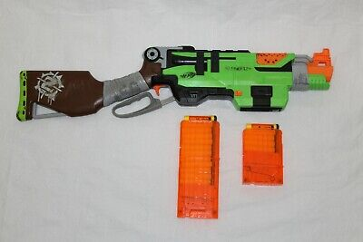 Nerf Gun Zombie Strike Slingfire Lever Action Rifle Blaster with 12 Round Mag