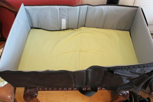 Eddie Bauer Black Portable Travel Baby Bed Changing Table #S41