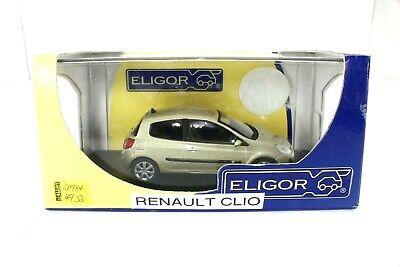 DIE CAST 1/43 ELIGOR RENAULT CLIO 2005 3 PORTES BEIGE 100984