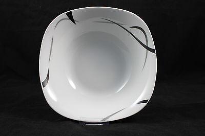 Salatschüssel 23cm Service Serie Black Light Schale Dekor Geschirr Porzellan