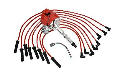 A-Team Performance Silicone Spark Plug Wires Set Compatible with AMC Jeep V8 290 304 343 360 390 401 Red 8.0mm